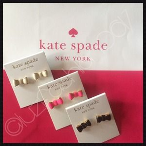 🆕🔴💯%Authentic Kate Spade Take A Bow Stud