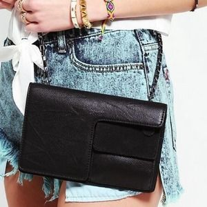 Handbags - Black Leather Crossbody Bag