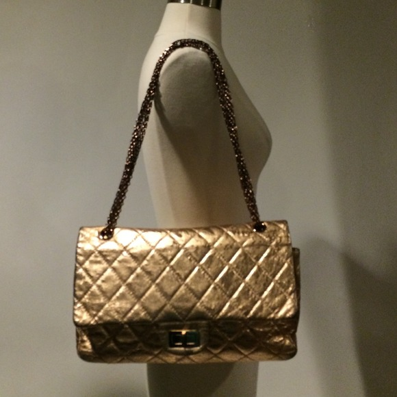 80ef9d04de7e CHANEL Bags | Sold Rose Gold Metallic Jumbo Reissue | Poshmark
