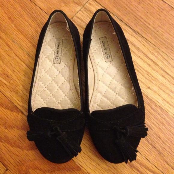Zara Shoes | Sold Zara Girl Loafers Size 26 Black | Poshmark