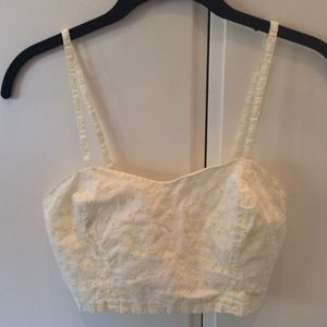 Urban Outfitters Eyelet Crop Top