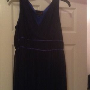 Two toned overlay dress