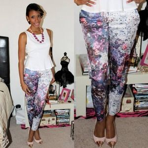 H&M Pants - Flower Pants