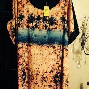 Island print dress