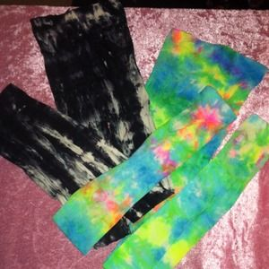 Footless tye dye Tights Small Free with purchase