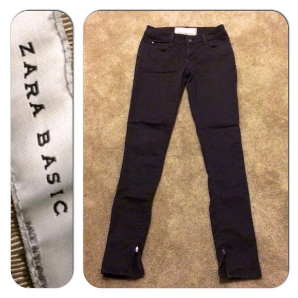 63145965 Zara Basic Ankle Zipper Skinny Jeans Dark Brown 👌.  M_534f2f28de4f2855253971cf