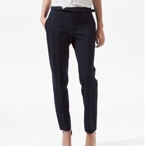 Zara Pants - Zara wool trousers with lined belt, XS