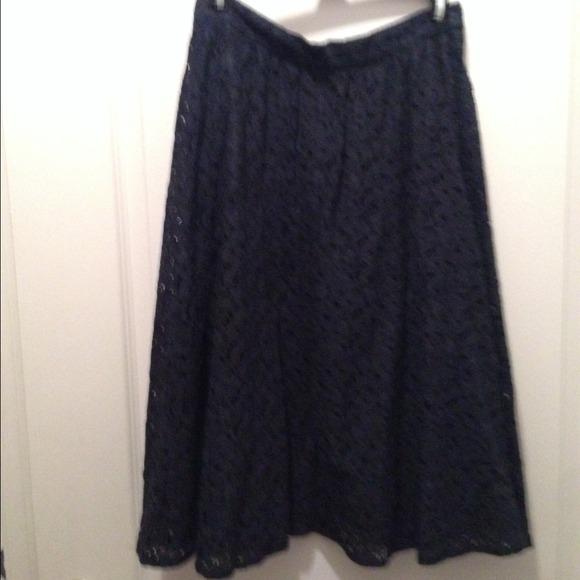 61% off Zara Dresses & Skirts - Zara lace full midi skirt from ...