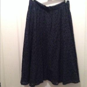 Zara lace full midi skirt