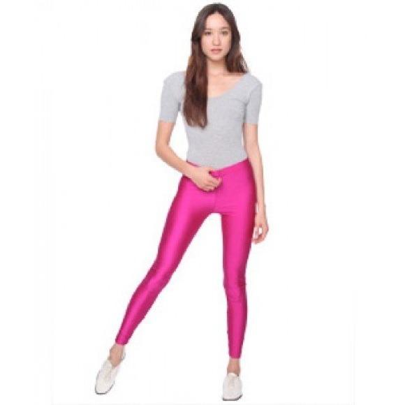 Pink spandex tights