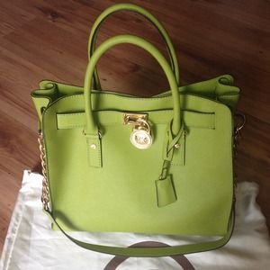 ⚡Flash  sale ⚡ michael kors large green Hamilton