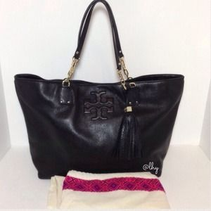 Tory Burch Black Thea Tote Bag
