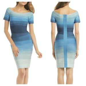 Herve Leger Dresses & Skirts - AUTHENTIC Hervé Léger Ombré Yacht Cruising Sheath