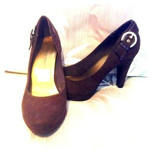 Christian Siriano Shoes - Christian Siriano Brown Suede Pumps