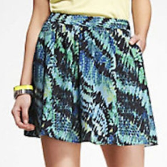 Express Dresses & Skirts - Bundled 🎉 HP- NWT Express Blue and Green Skirt