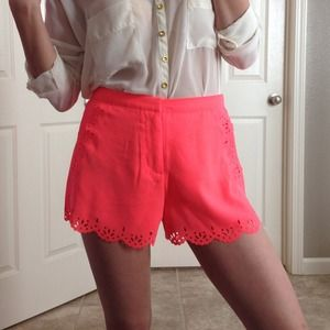 Pants - NWT Neon Coral Shorts