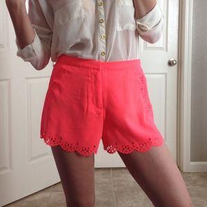 NWT Neon Coral Shorts