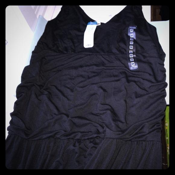 Old Navy Dresses & Skirts - Maternity black tank dress NWT