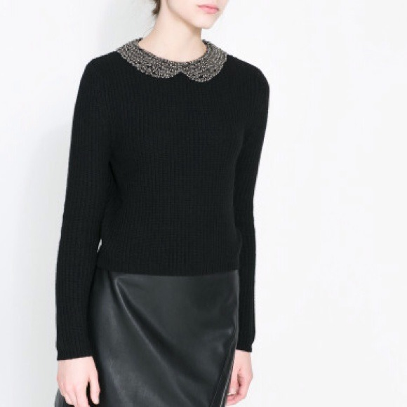 Zara Sweaters - FIRESALE! NWT Zara Angora Sweater with Rhinestones