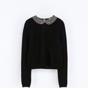 Zara Sweaters - FIRESALE! NWT Zara Angora Sweater with Rhinestones 3