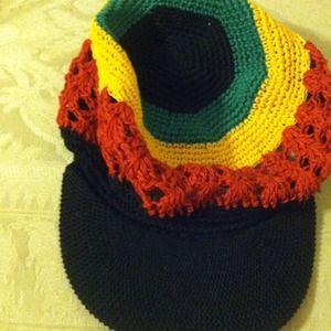 Outerwear - Rasta Crochet Cap