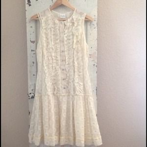 Stunning, Tracy Reese, ivory drop waist dress