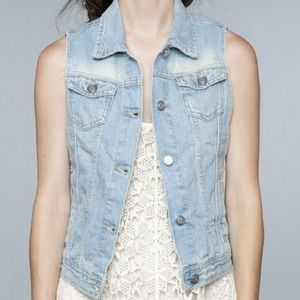 Brandy Melville Denim Vest *NEW*