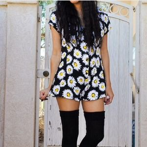 Motel rocks sunflower romper
