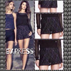 Express Pants - 🆕Express High Waist Bonded Lace Shorts