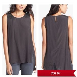 ❌SOLD❌ASTR Beaded Shoulder Tulip Tunic Top