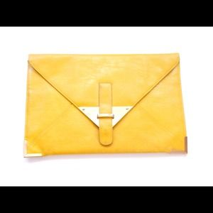 Aosos Canary yellow clutch purse