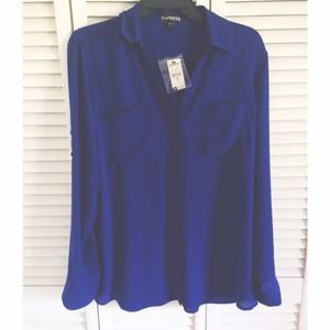 Royal Blue Express Collared Top
