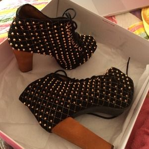 Jeffrey Campbell Shoes - Jeffrey Campbell Black and gold Lita