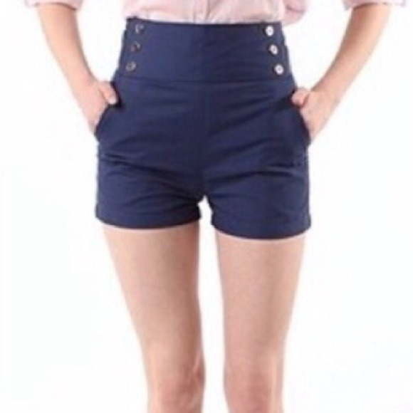Urban Outfitters - LUCCA COUTURE Navy Blue High-waisted Sailor ...
