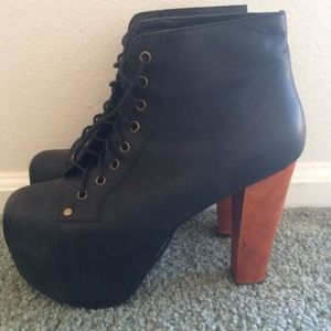 Jeffrey Campbell Black Distressed Lita