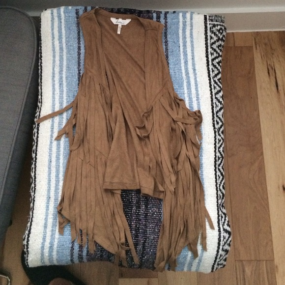Kirra Jackets Amp Coats Faux Suede Fringe Vest Poshmark