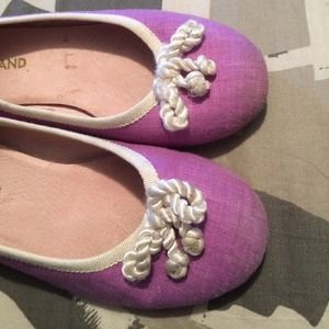 thousand Shoes - Purple ballet flats size 32 girls thousand brand
