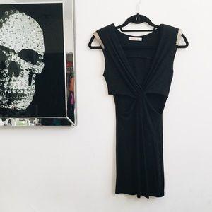 Arden B cutout wrap dress