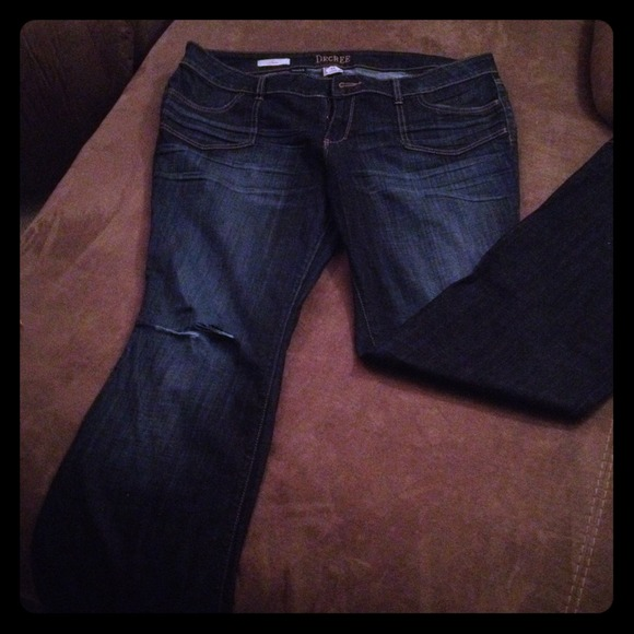 64% off Decree Denim - Decree Plus Size 19 Juniors flare Jeans ...
