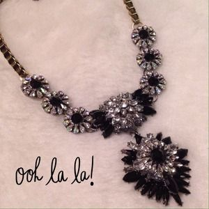 New Stunning Black Crystal Statement Necklace!