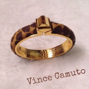 Gorgeous Vince Camuto Pony Hair Leopard Bangle!