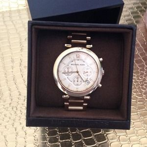Michael Kors Gold-tone Parker watch