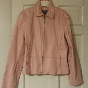 Black Rivet Jackets & Blazers - Dusty Rose Pink Leather Jacket