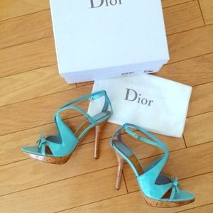 🆕 7x HP🎉Christian Dior Patent Sandals 8