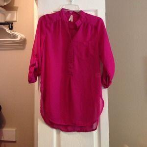 Chiffon half button up blouse