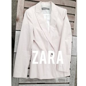 Zara Jackets & Blazers - Zara light pink jacket