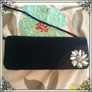 Vintage inspired BLACK CLUTCH