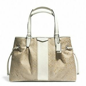 Coach Handbags - FINALPRICE New Coach signature drawstring carryall