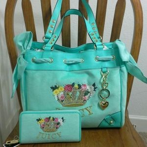 Juicy Couture Handbags - NWT Authentic Juicy Couture Floral Crown Velour