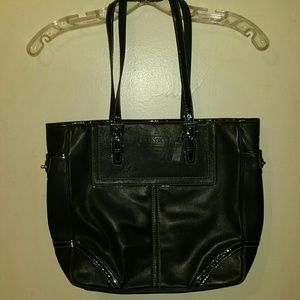 Coach Handbags - Black leather Coach bag.